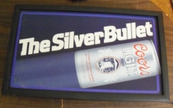 Coors Light Beer Silver Bullet Light