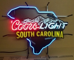 Coors Light Beer South Carolina Neon Sign  MY BEER SIGN COLLECTION – Not for sale but can be bought… coorslightsouthcarolina