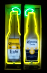 Corona Light Beer Neon Sign  MY BEER SIGN COLLECTION – Not for sale but can be bought… coronaextralightbottle