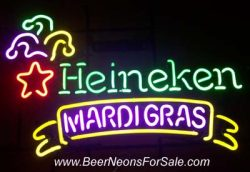 Heineken Beer Mardi Gras Neon Sign  MY BEER SIGN COLLECTION – Not for sale but can be bought… heinekenmardigras e1591315602205