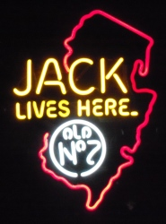 Jack Daniels Whiskey New Jersey Neon Sign beer sign collection My Beer Sign Collection 2 – Not for sale but can be bought… jacklivesherenewjersey