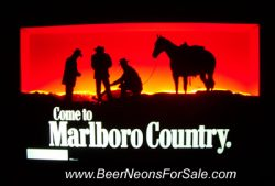 Marlboro Cigarettes Country Neon Sign beer sign collection My Beer Sign Collection 2 – Not for sale but can be bought… marlborocountry e1593201207479