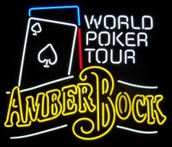 Michelob Amber Bock Poker Neon Sign beer sign collection My Beer Sign Collection 2 – Not for sale but can be bought… michelobamberbockworldpokertour