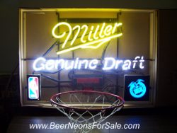 Miller Genuine Draft Beer Basketball Neon Sign beer sign collection My Beer Sign Collection 2 – Not for sale but can be bought… millergenuinedraftbasketbakkgoal e1593195314875