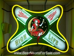 Miller High Life Beer Lady Neon Sign beer sign collection My Beer Sign Collection 2 – Not for sale but can be bought… millerhighlifeshoulderlabel e1592047230763