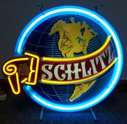 Schlitz Beer Neon Sign beer sign collection My Beer Sign Collection 2 – Not for sale but can be bought… schlitzworld