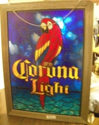 Corona Light Beer Sign [object object] Home coronalightstainedglasssign