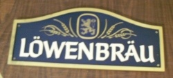 Lowenbrau Beer Sign
