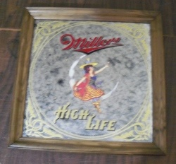 Miller High Life Beer Mirror [object object] Home millerhighlifeladyonthemoon1984