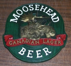 Moosehead Beer Sign [object object] Home mooseheadbeerplasticsign