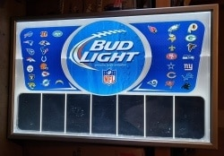Bud Light Beer NFL LED Menuboard