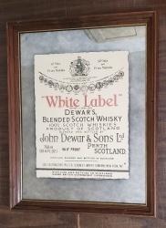 Dewars White Label Scotch Mirror