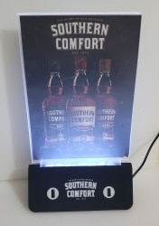 Southern Comfort Whiskey LED Table Tent [object object] Home southerncomfortledtentholderchargeron