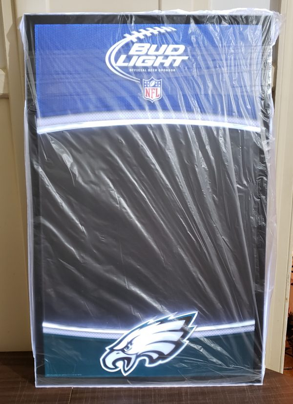 Bud Light Beer NFL Philadelphia Eagles LED Menu Board