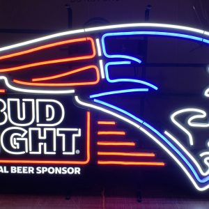 Bud Light Beer NFL New England Patriots LED Sign