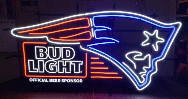 Bud Light Beer NFL New England Patriots LED Sign