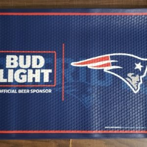 Bud Light Beer NFL Patriots Floor Mat