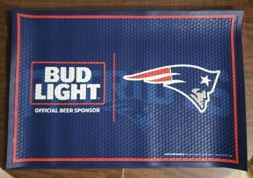 Bud Light Beer NFL Patriots Floor Mat