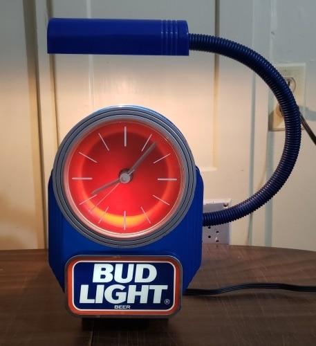 Bud Light Beer Register Clock