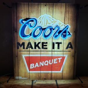 Coors Banquet Beer Neon Sign [object object] Home coorsbanquetwood 300x300