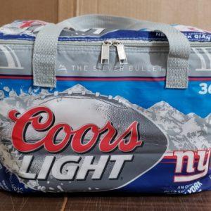 Coors Light Beer NFL NY Giants Cooler Bag
