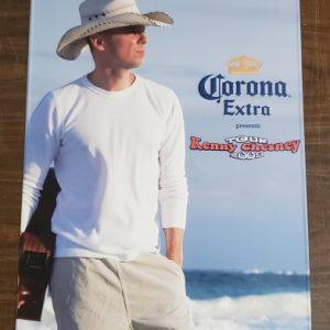 Corona Extra Beer Kenny Chesney Tin Sign