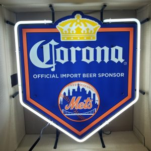 Corona Beer NY Mets Neon Sign