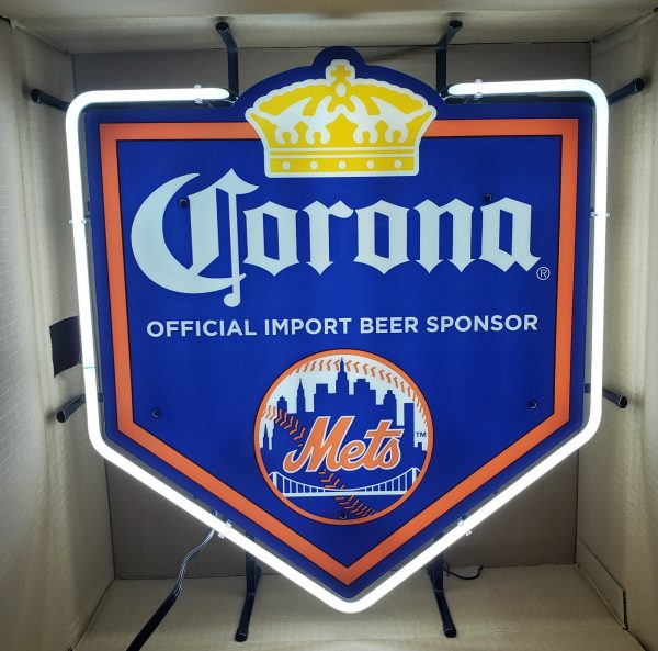 Corona Beer NY Mets Neon Sign