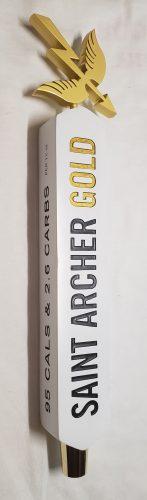 Saint Archer Gold Beer Tap Handle