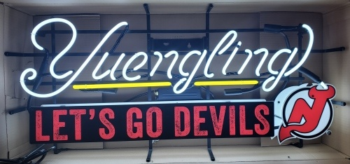 Yuengling Beer NHL Devils Neon Sign