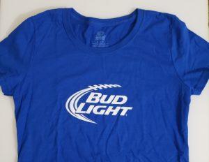 Bud Light Beer Ladies T-Shirt bud light beer ladies t-shirt Bud Light Beer Ladies T-Shirt budlightblueladiestshirt 300x232