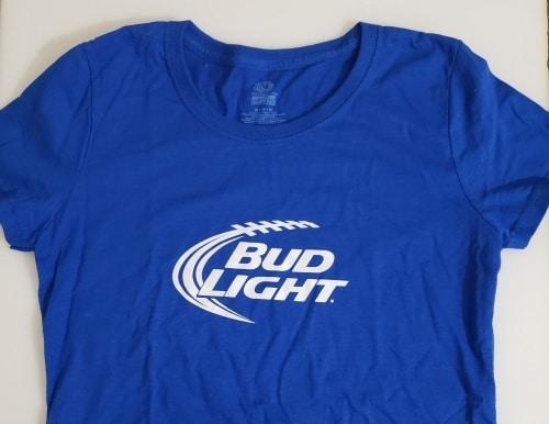 Bud Light Beer Ladies T-Shirt