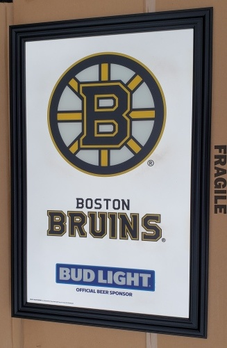 Bud Light Beer Boston Bruins Mirror