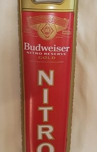 Budweiser Nitro Gold Beer Tap Handle