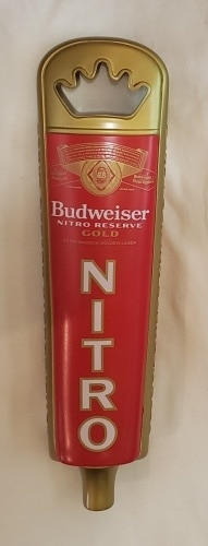 Budweiser Nitro Gold Beer Tap Handle