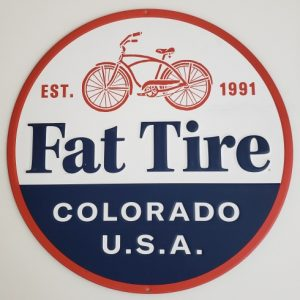 Fat Tire Beer Tin Sign