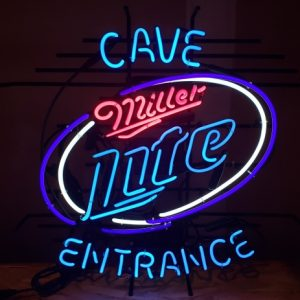 Lite Beer Cave Entrance Neon Sign