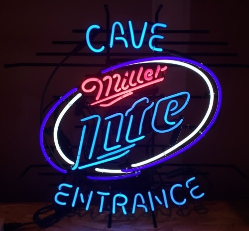 Lite Beer Cave Entrance Neon Sign