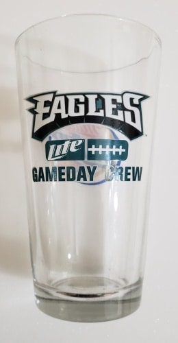 Lite Beer NFL Philadelphia Eagles Pint Glass