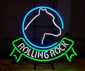 Rolling Rock Beer Neon Sign rolling rock beer neon sign Rolling Rock Beer Neon Sign rollingrockhorseheadribbon1998 300x250