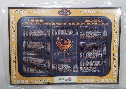 Atlanta Thrashers Hockey Schedule Magnet