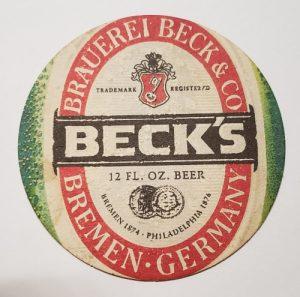 Becks Beer Coaster becks beer coaster Becks Beer Coaster becksfavoritegermanbiercoaster 300x297