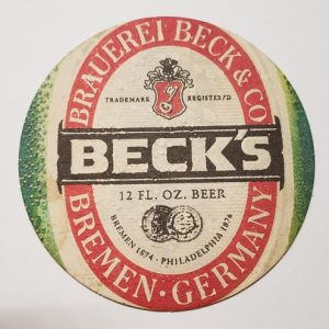 Becks Beer Coaster