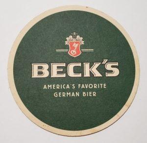 Becks Beer Coaster becks beer coaster Becks Beer Coaster becksfavoritegermanbiercoasterrear 300x292