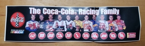 Coca Cola NASCAR Racing Family Sticker
