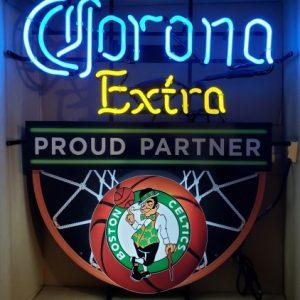 Corona Extra Beer NBA Boston Celtics Neon Sign