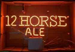 My Beer Sign Collection – Not for sale but can be bought… 12horseale1986nib e1616587182516