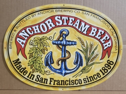 Anchor Steam Beer Tin Sign