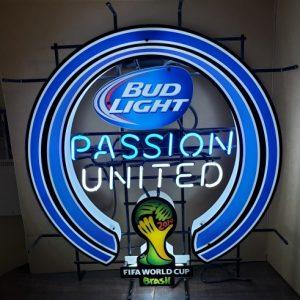 Bud Light Beer Soccer Neon Sign