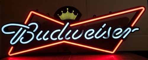 Budweiser Beer Bowtie LED Sign
